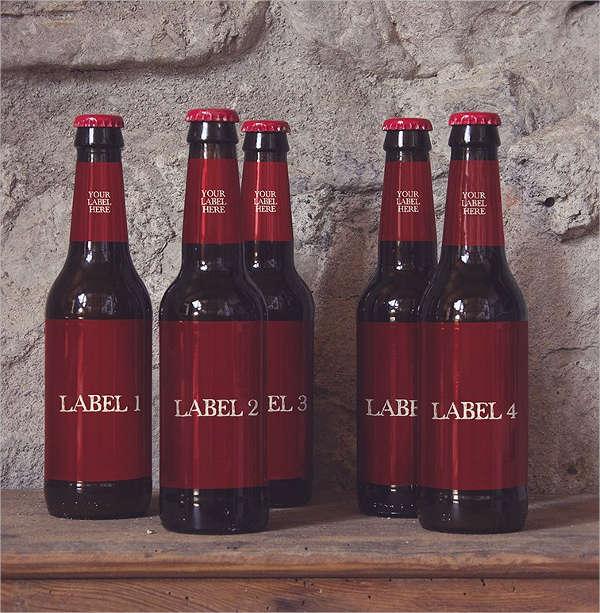 editable beer bottle mockup