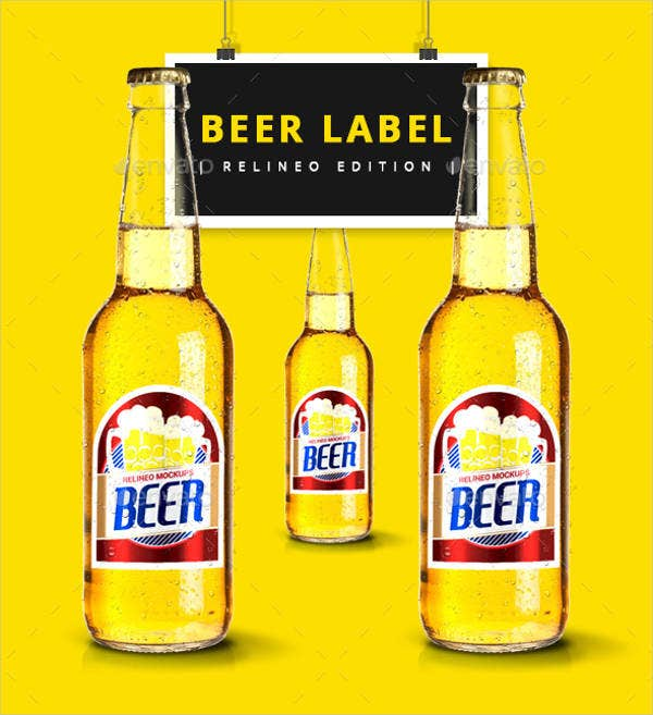 photograph relating to Printable Beer Labels identified as Beer Bottle Labels - 12+ No cost PSD, Vector AI, EPS Layout