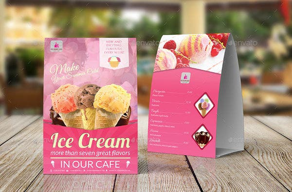 Ice Cream Table Tent Template
