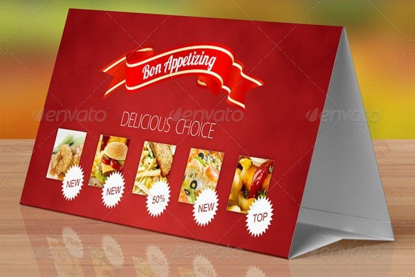 table tent mockup template free elcho table