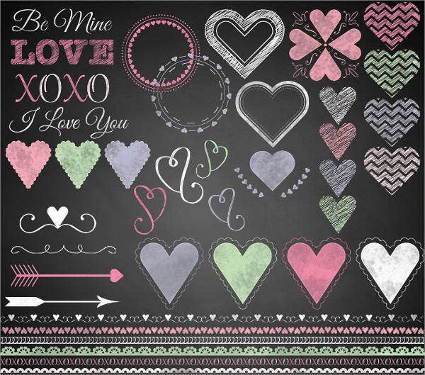 colour full chalkboard design