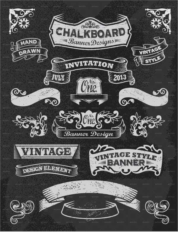 vintage chalkboard design elements