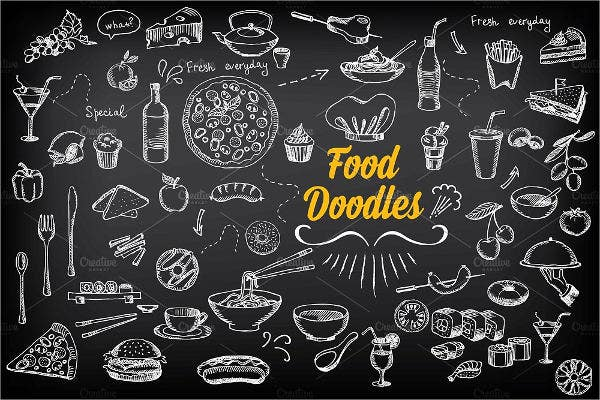 chalkboard food sketch designs