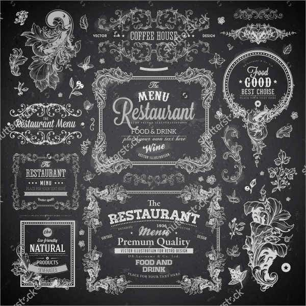 restaurant menu chalkboard design