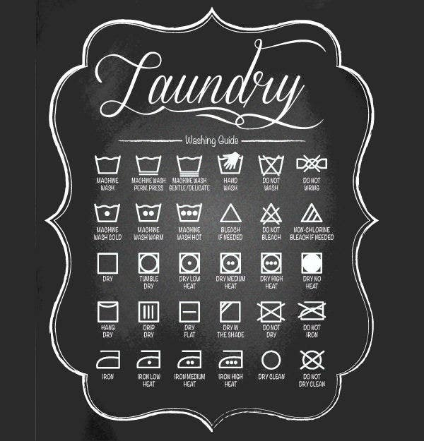 laundry chalkboard design