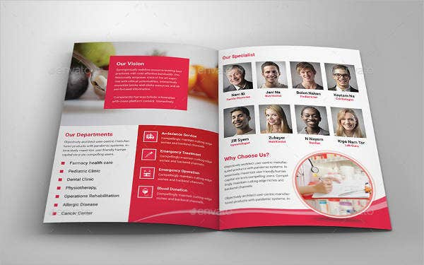 Modern Medical Bi fold Brochure
