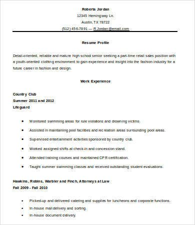 new high school graduate resume