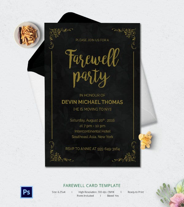 Free Farewell Card Template 6 Free Farewell Card Templates  Invitation Graduation  Free .