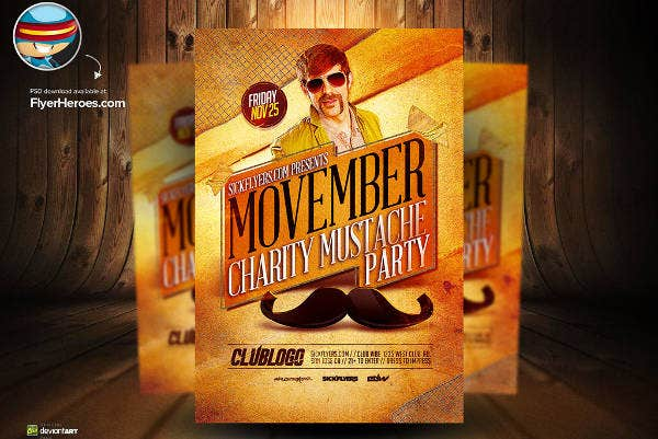 Movember PSD Flyer Template