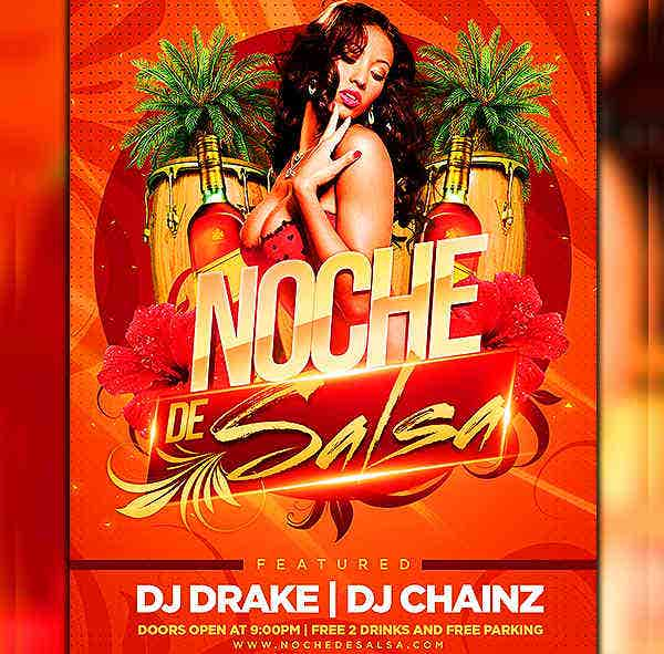 Free Download Salsa Party Flyer