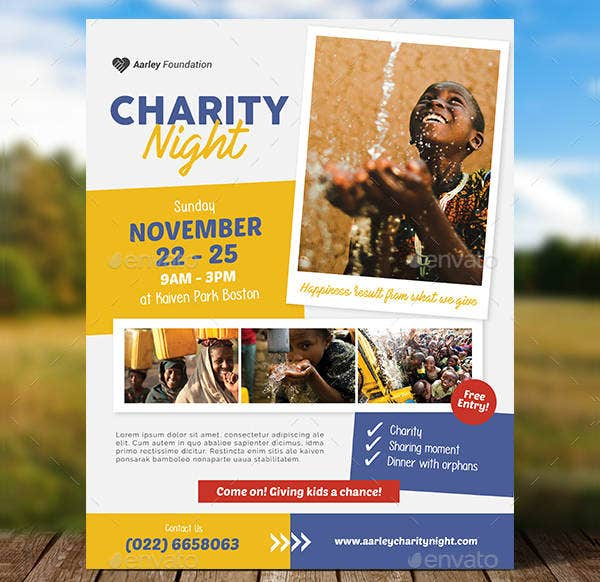 Free Event Flyer Templates | Charity Event Flyer Template
