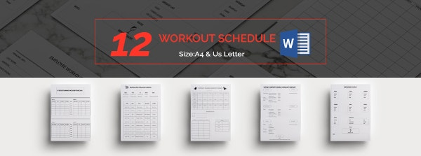 Workout Schedule Template
