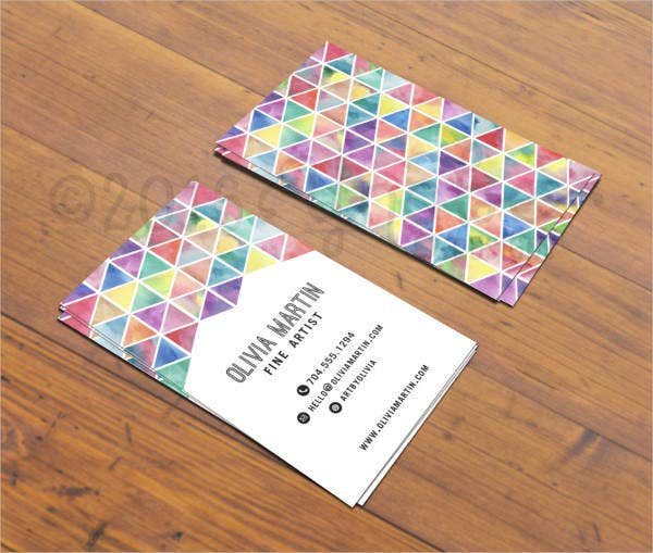 artists business cards 9 free psd vector ai eps