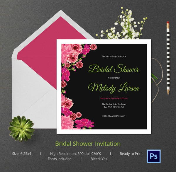 Formal Wedding Invitation