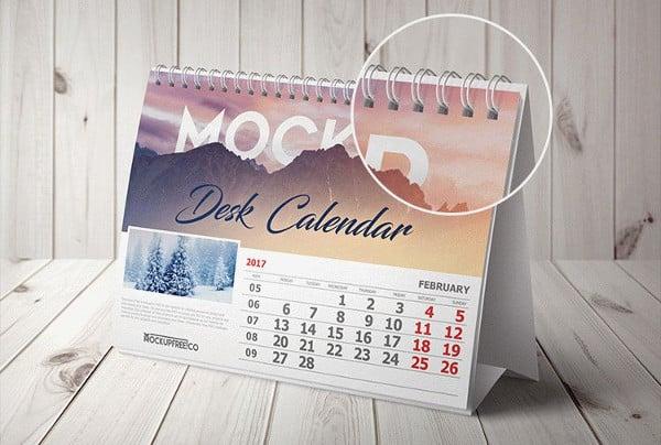 wall desk calendar mockups