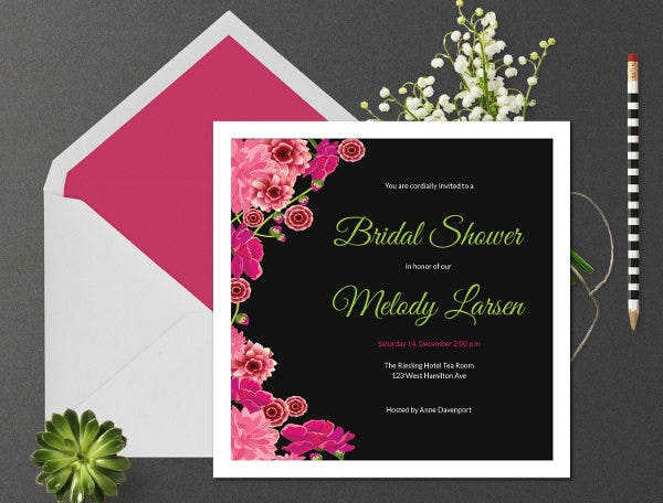 Formal Bridal Shower Invitation