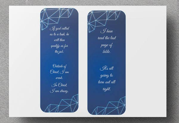 Double Sided Bookmark Template