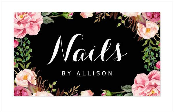 Nail business cards templates image collections business cards ideas nail business cards ideas best nail 2018 nail business cards templates gallery ideas flashek image collections flashek Images