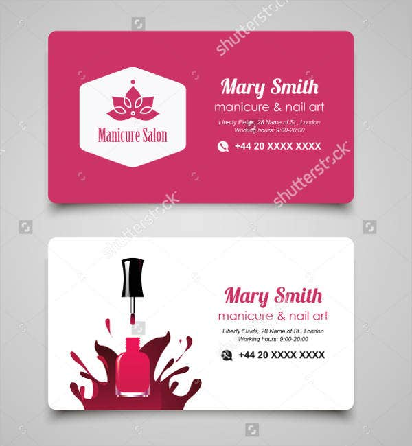 Nail Salon Business Card - 9+ Free PSD, Vector AI, EPS Format ...