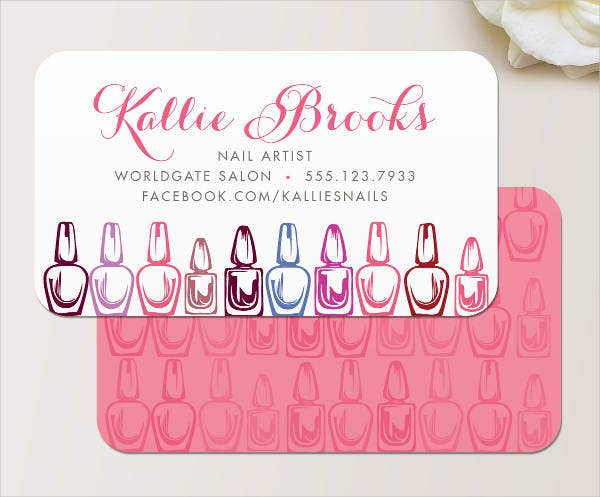 Nail Salon Business Card 14 Free Psd Vector Ai Eps Format