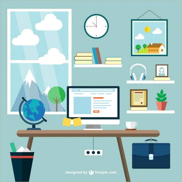 office-workspace-vector