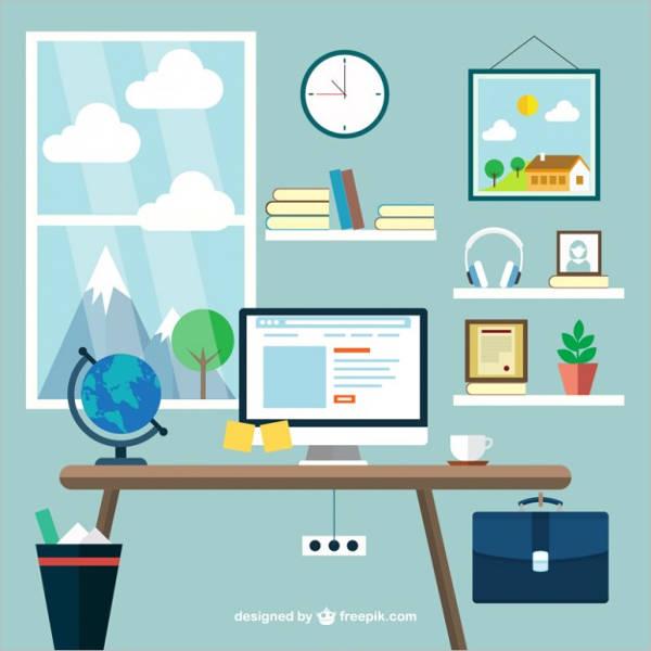 office workspace vector1