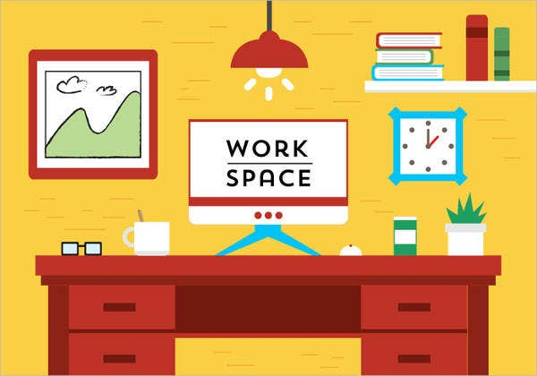 flat-design-workspace-vector