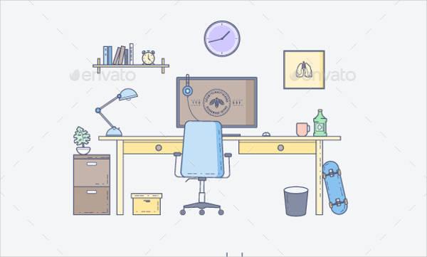vector interior workspace