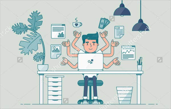 professional workspace vector