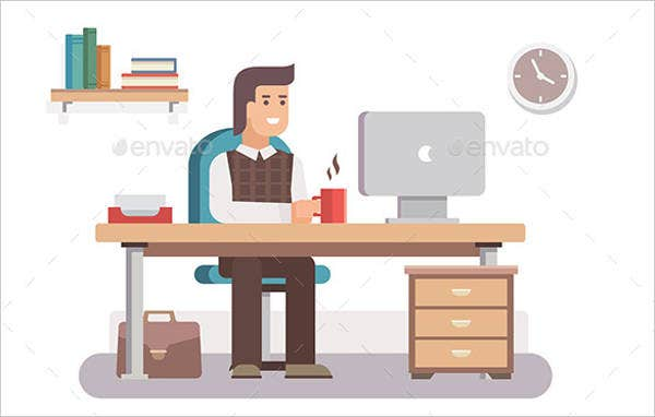 employee-workspace-vector