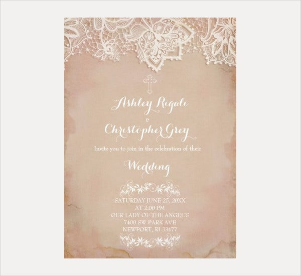 Christian Wedding Invitation Card