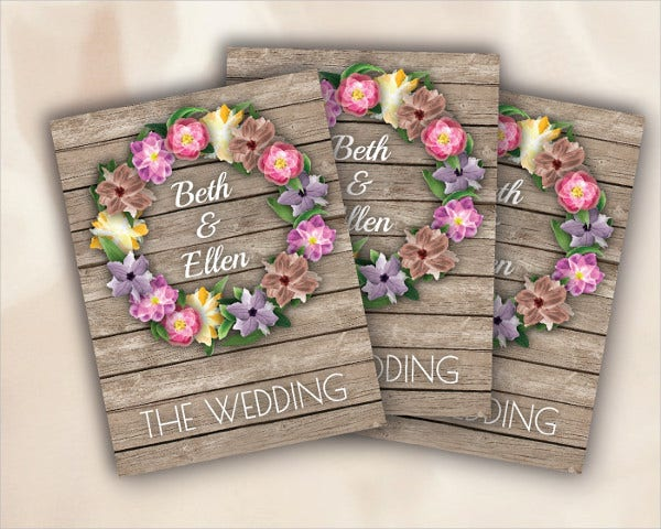 Studio Wedding Invitation Flowers