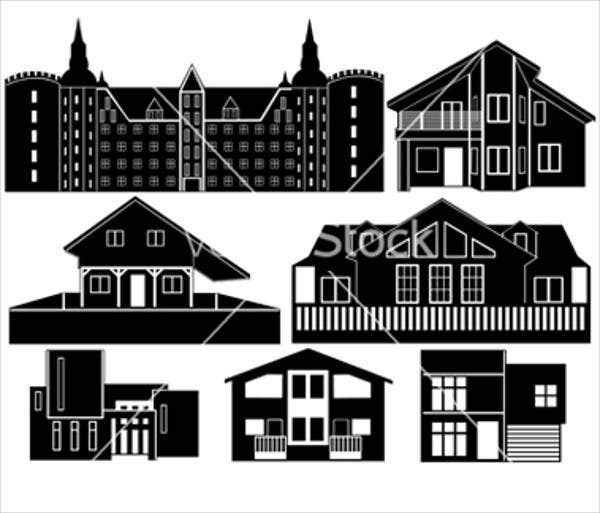house-silhouette-vector