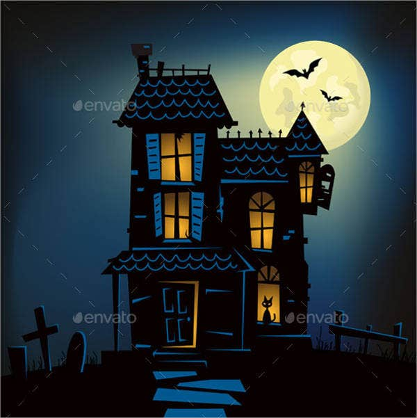 haunted-house-vector
