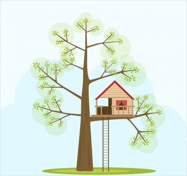 tree-house-vector