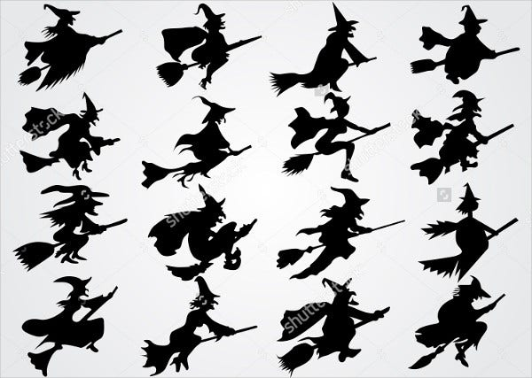 Horror Witch Silhouette