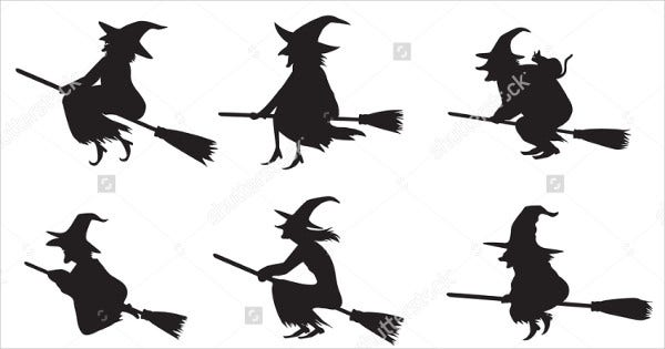 Black Witch Silhouette