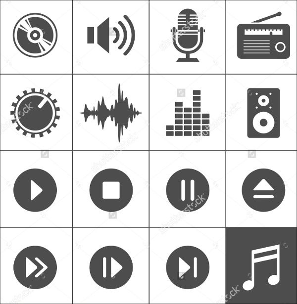 vector-audio-icons-set