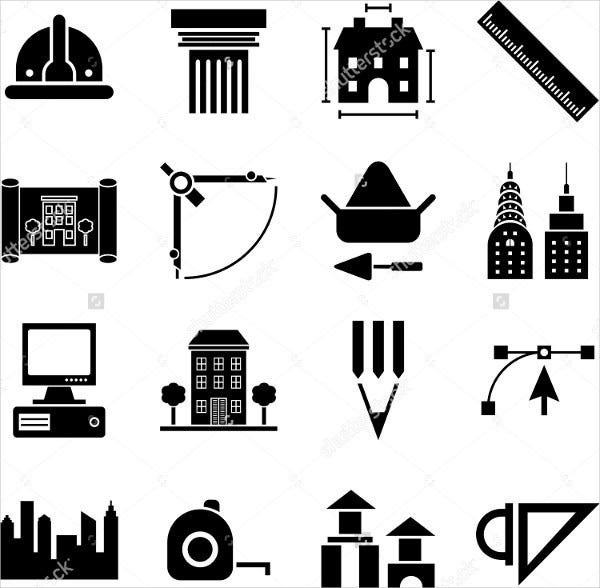 vector architecture icons