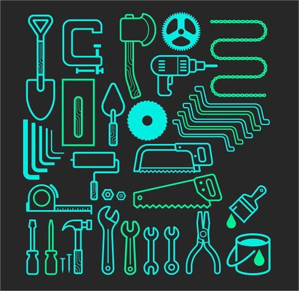 Architecture and Construction Tools Icons