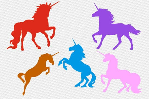 set-of-unicorn-silhouettes