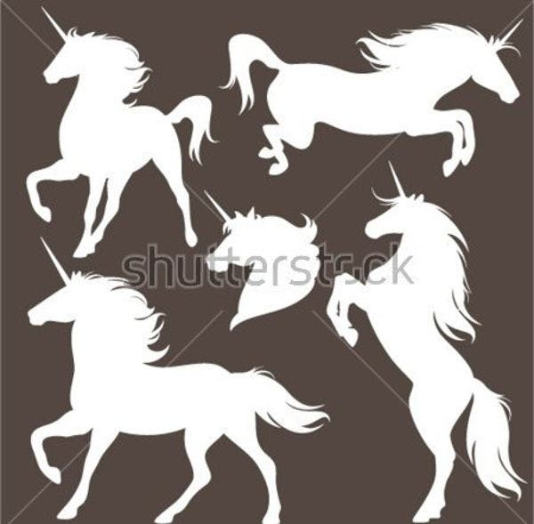 8+ Unicorn Silhouettes - Free PSD, AI, Vector, EPS Format Download