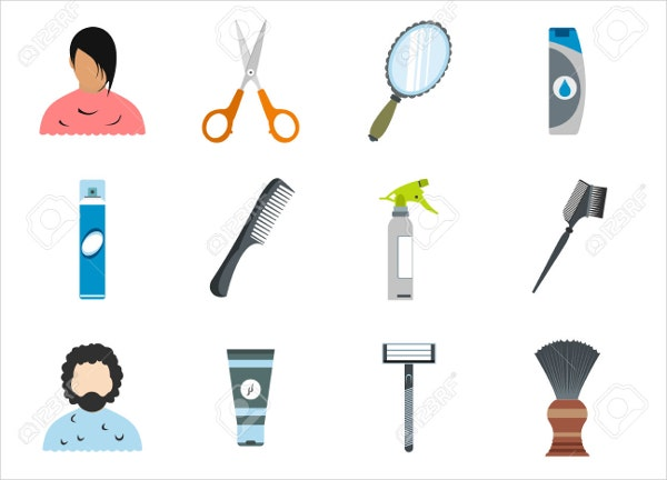 hairdresser-icons-set