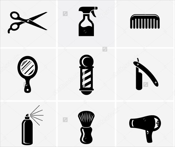 barber shop and salon icon