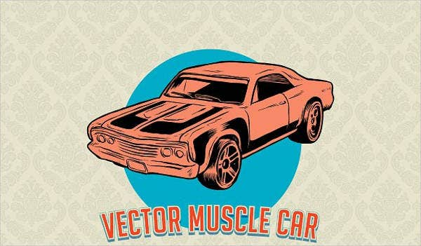 muscle-car-vector