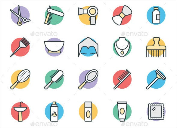 vector-hair-salon-icons