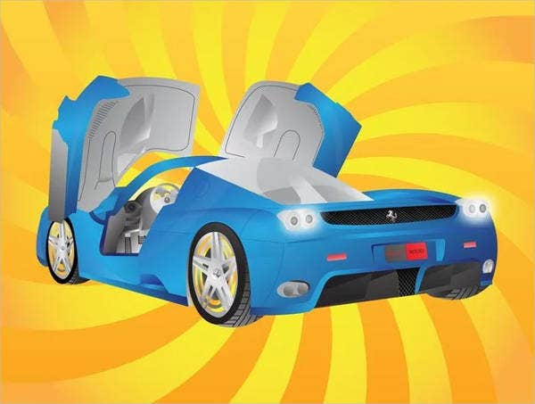 free-sports-car-vector