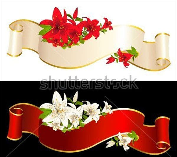 flowers-with-ribbon-vectors