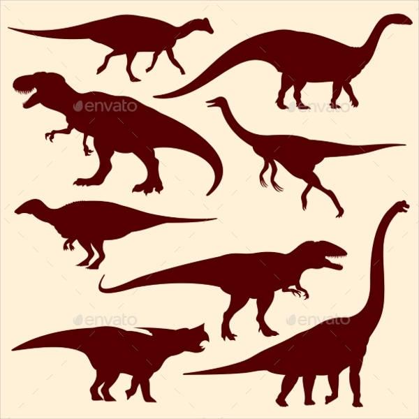 dinosaur-silhouette-vector