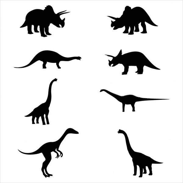 photograph regarding Free Printable Dinosaur identified as 9+ Wild Dinosaur Silhouettes Free of charge Top quality Templates